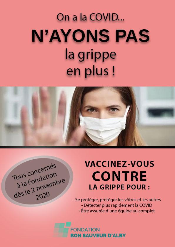 Campagne de vaccination contre la grippe à la Fondation