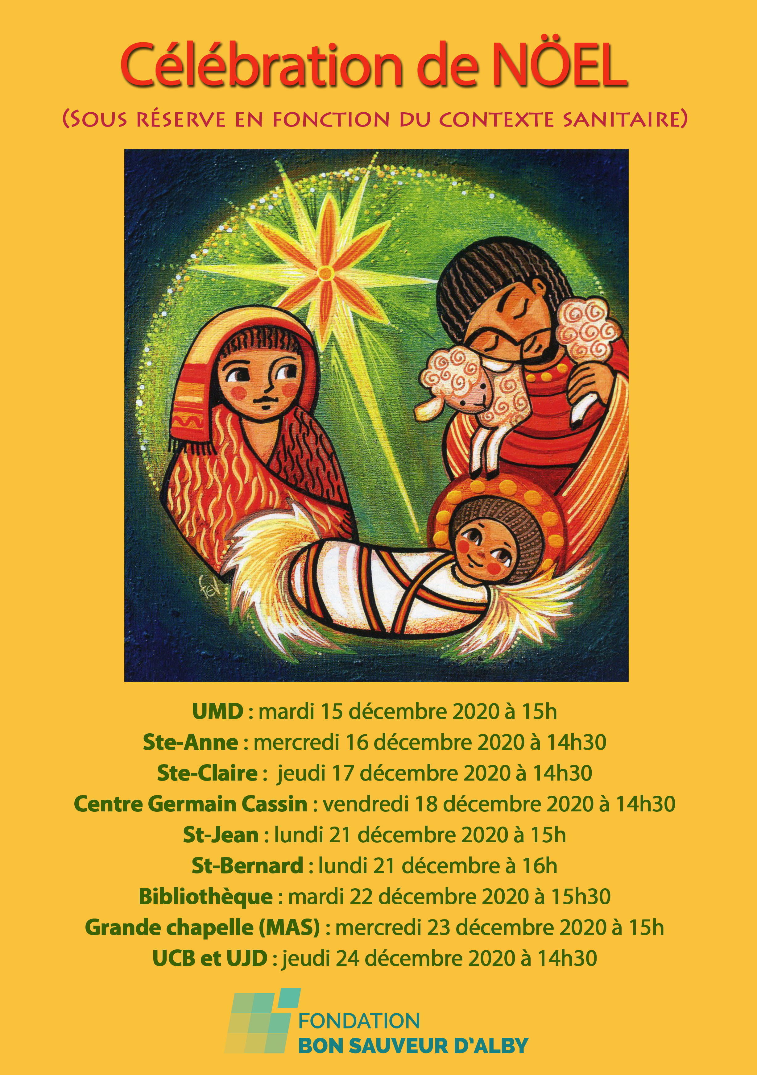 Célébration de Noël  2020